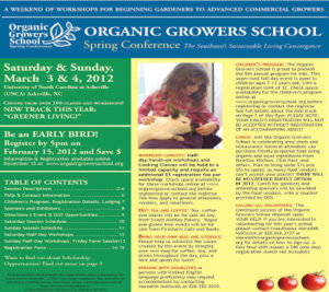 Cover photo for The 19th Organic Growers School Is This Weekend!