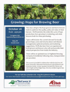 Cover photo for Hops Growing Class Scheduled for October 28 in Asheville
