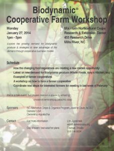 Cover photo for Biodynamic Cooperative Farm Workshop