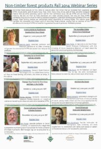 non-timber forest products 2014 fall webinar flyer
