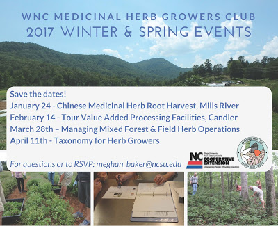 WNC Medicinal Herb Growers Club event poster