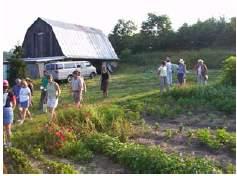 participants on the educational tour
