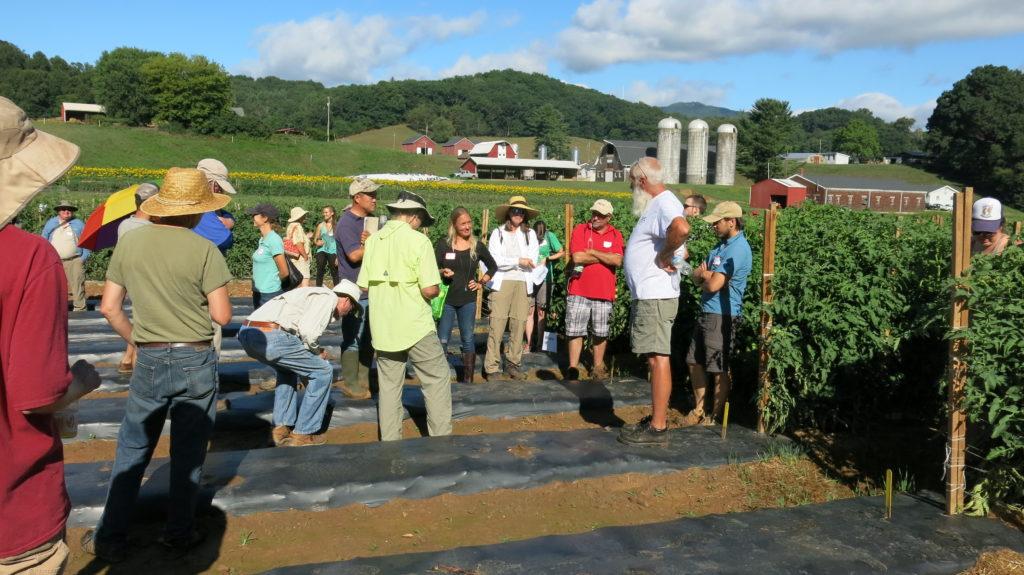 participants at Alternative Crops and Organics Field Day presentation