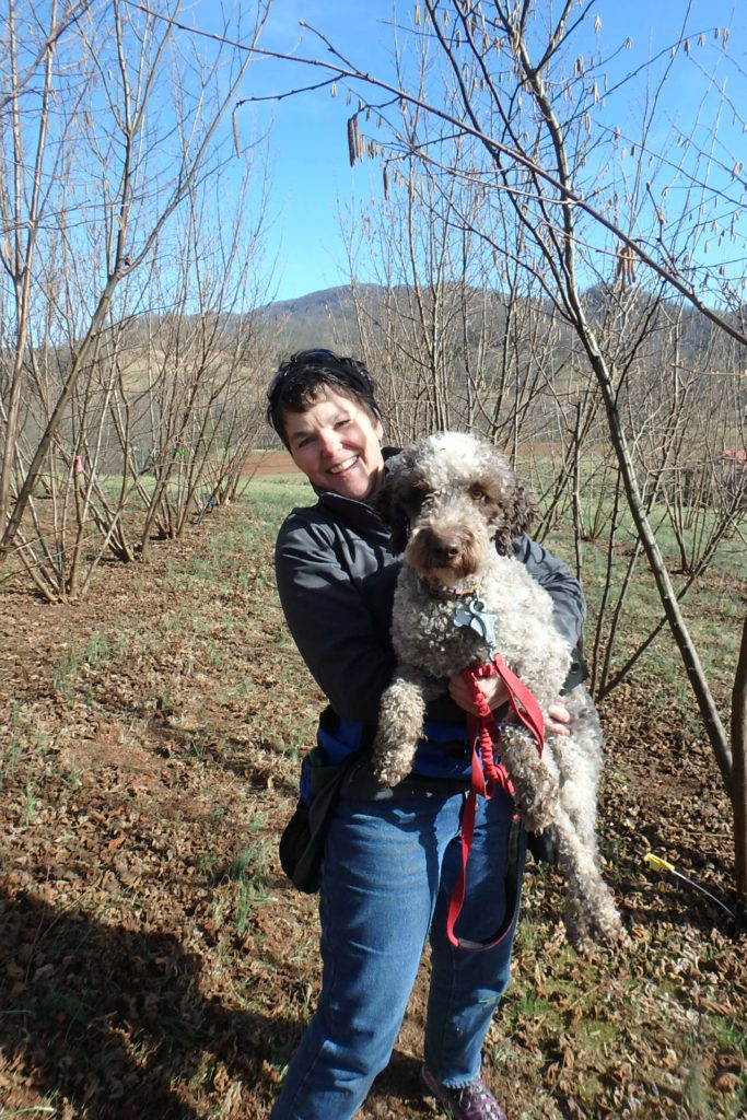 Lois Martin and her truffle dog