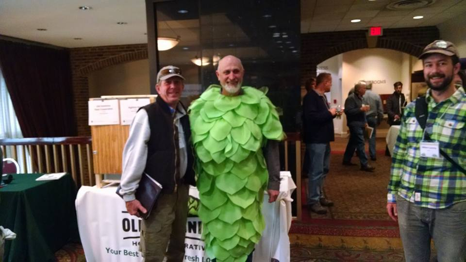 hops grower in hops costume