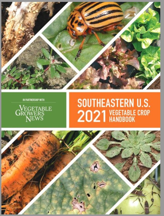 Cover of the 2021 Southeastern Vegetable Crop Handbook